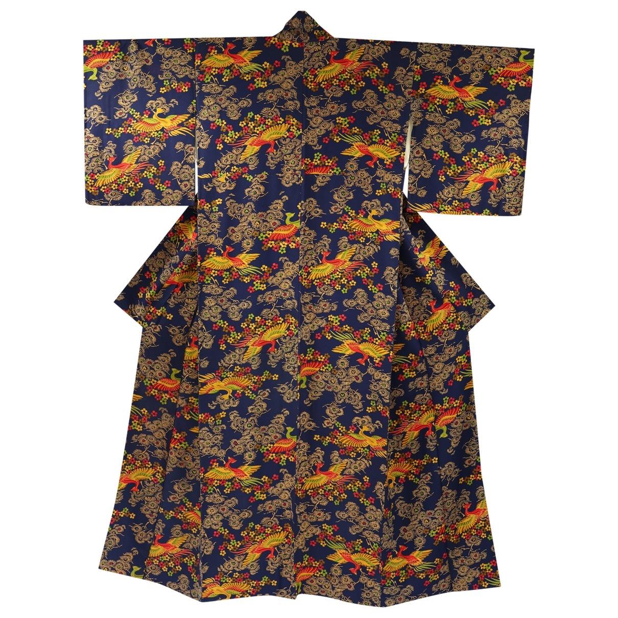 - Manteau   pour femme en soie - bleu