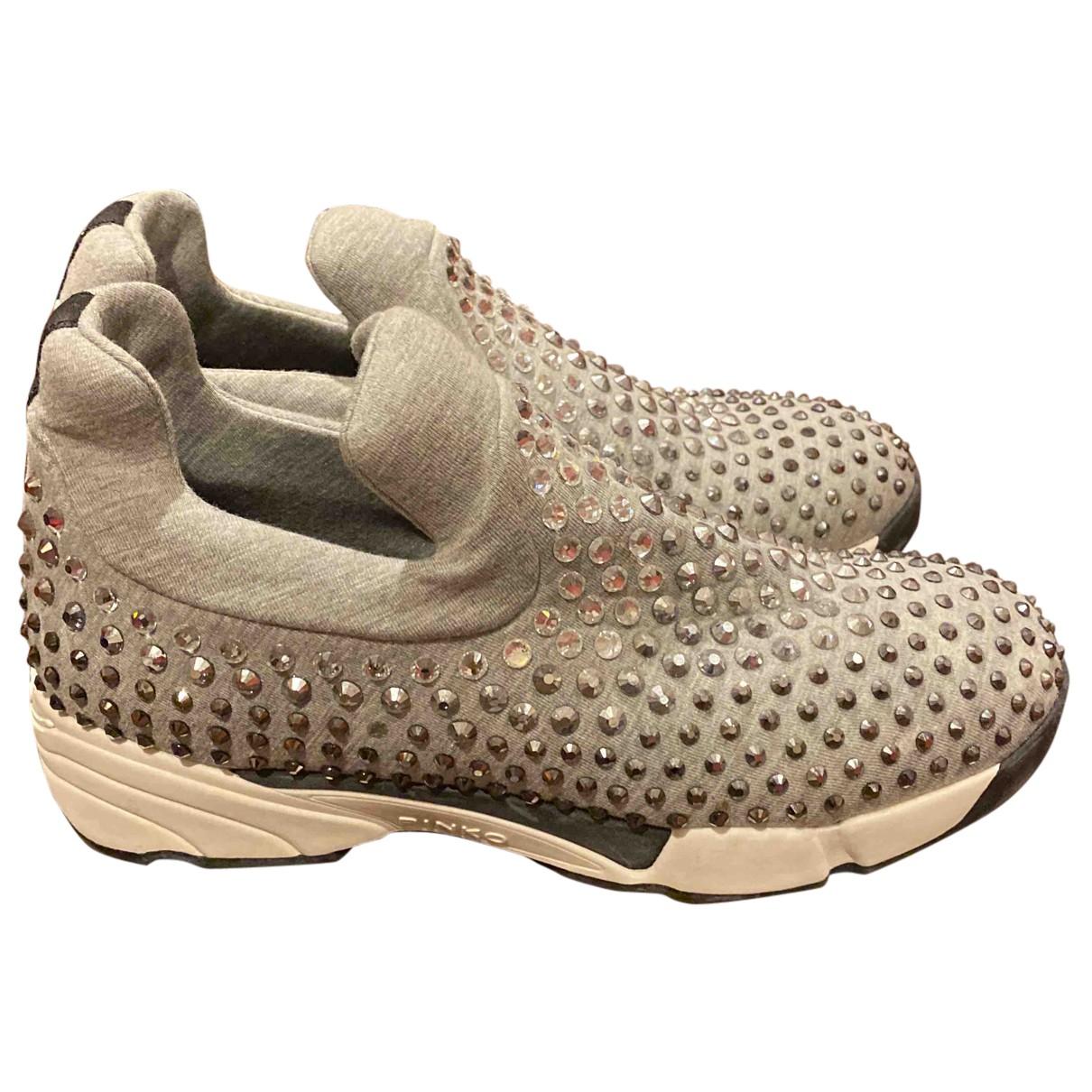 Pinko \N Sneakers in  Grau Leinen