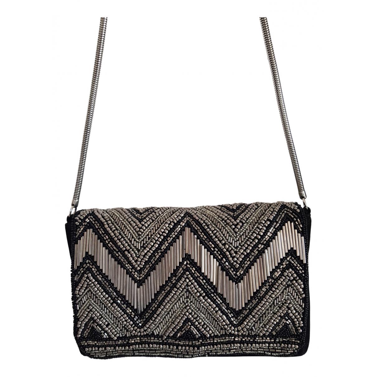 Zara - Pochette   pour femme en velours - noir