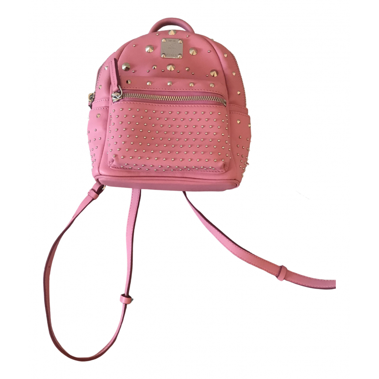 Mcm Stark Pink Leather backpack for Women N