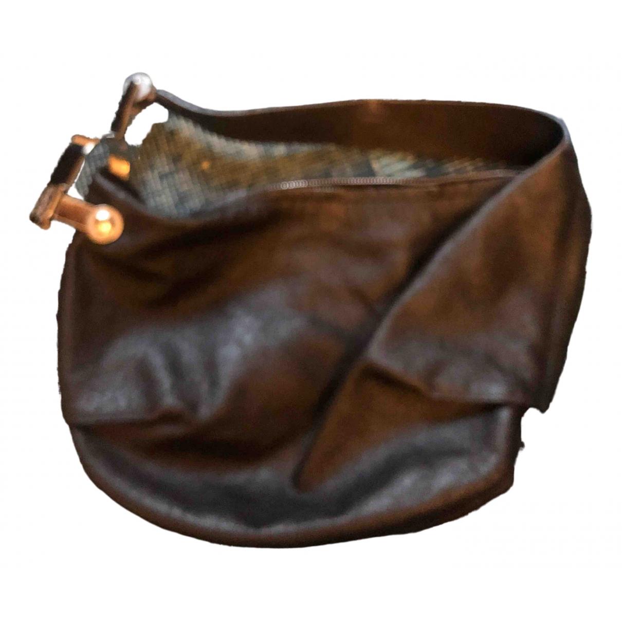 Mugler - Sac a main   pour femme en cuir - noir