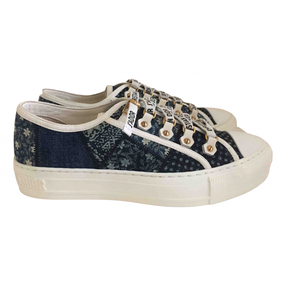 Dior Walk n Dior Sneakers in  Blau Leinen