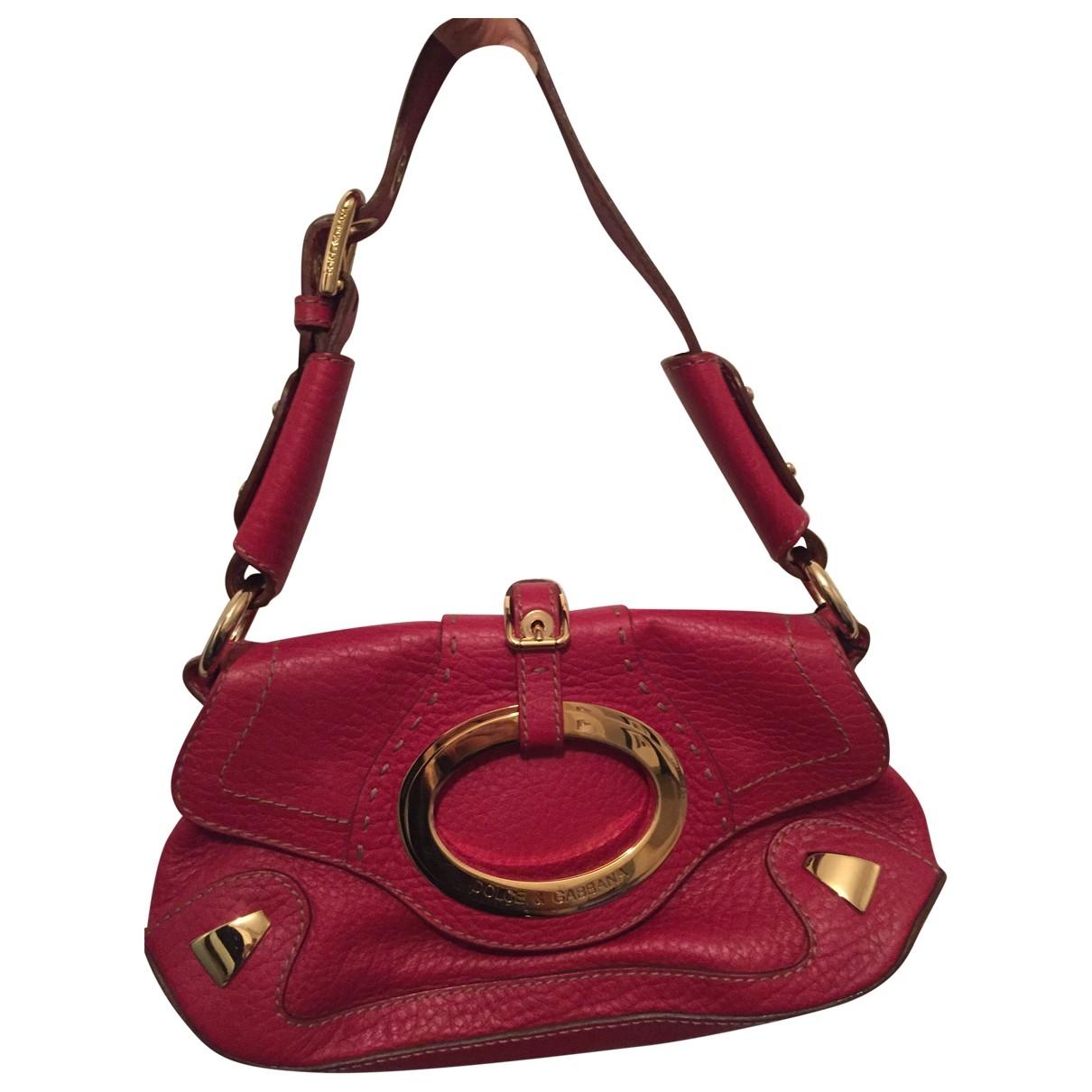 Dolce & Gabbana \N Handtasche in  Rot Leder