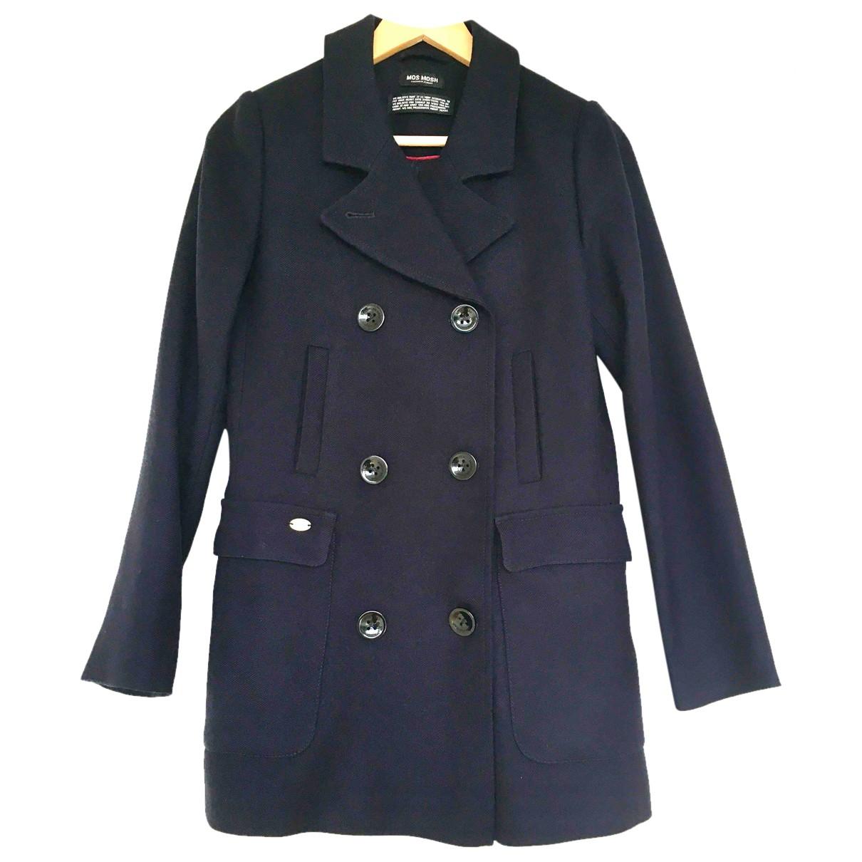 Mos Mosh N Navy Wool coat for Women 34 FR