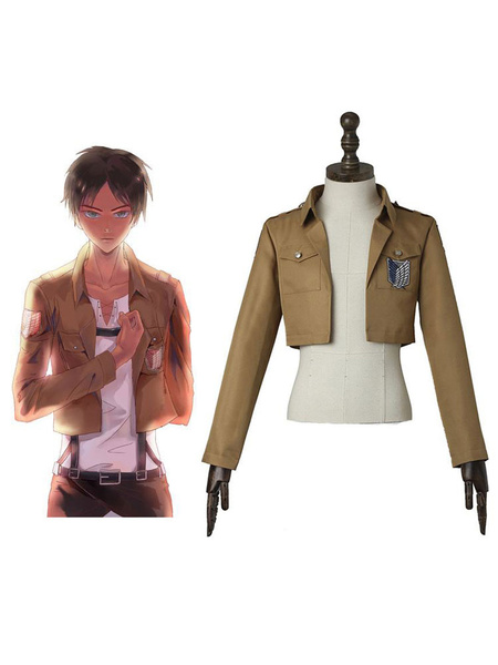 Milanoo Attack On Titan Eren Jaeger Levi Cosplay Costume Shingeki no Kyojin Survey Corps Scout Regiment Jacket Cosplay Costume Halloween