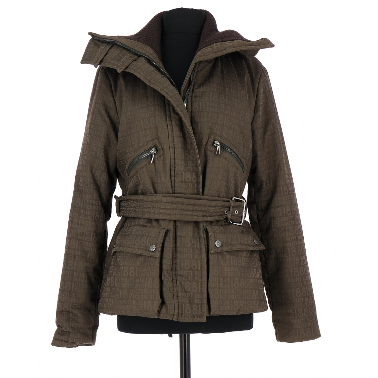Cerruti \N Brown Cotton coat for Women 38 FR