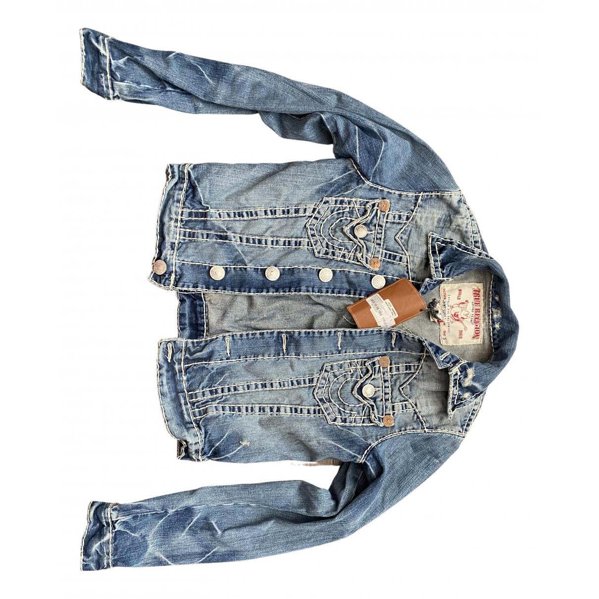 True Religion \N Jacke in  Blau Denim - Jeans