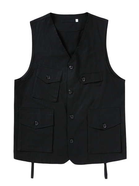 Milanoo Multi Pockets Utility Vest Fishing Outdoor Waistcoat
