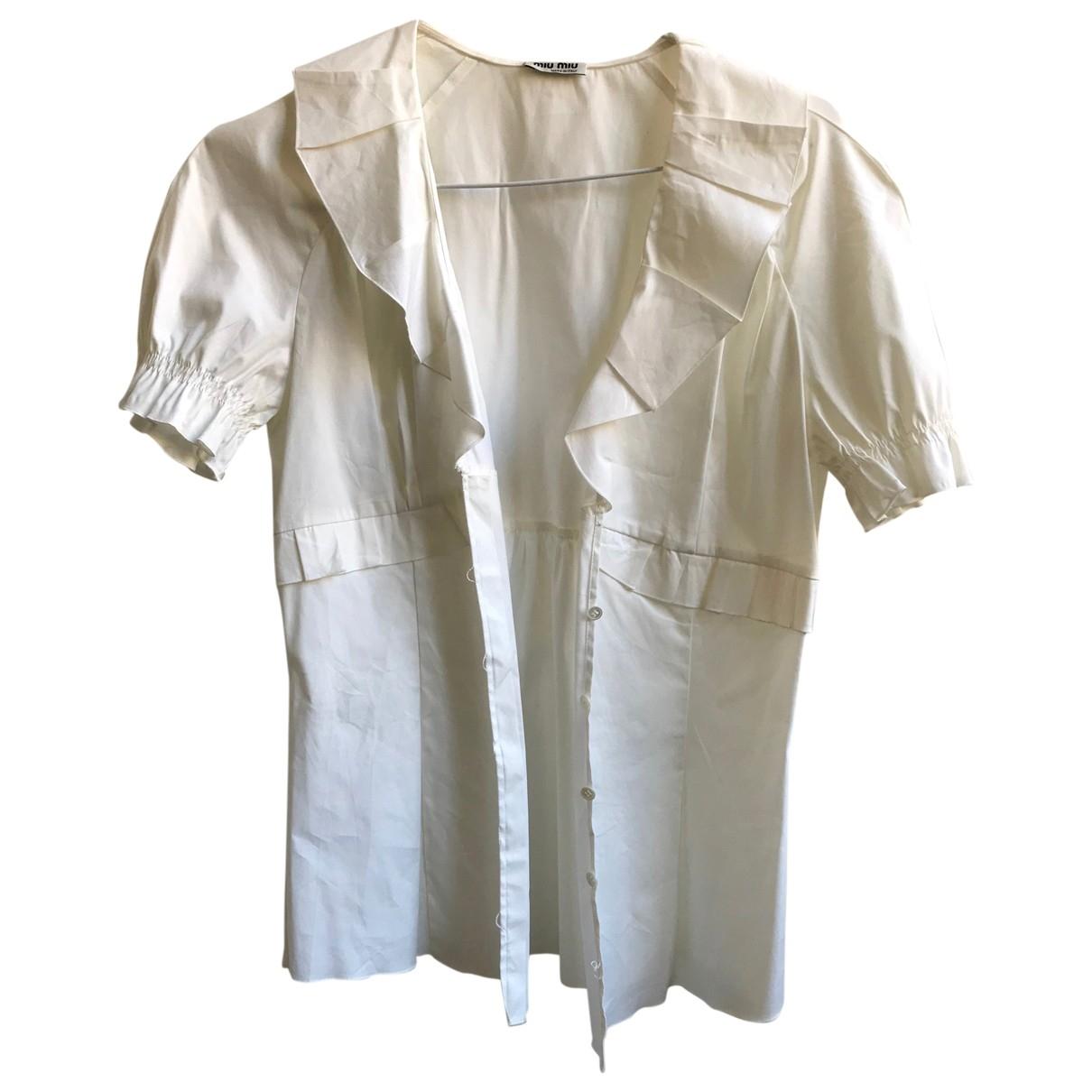 Miu Miu \N White Cotton  top for Women 40 IT