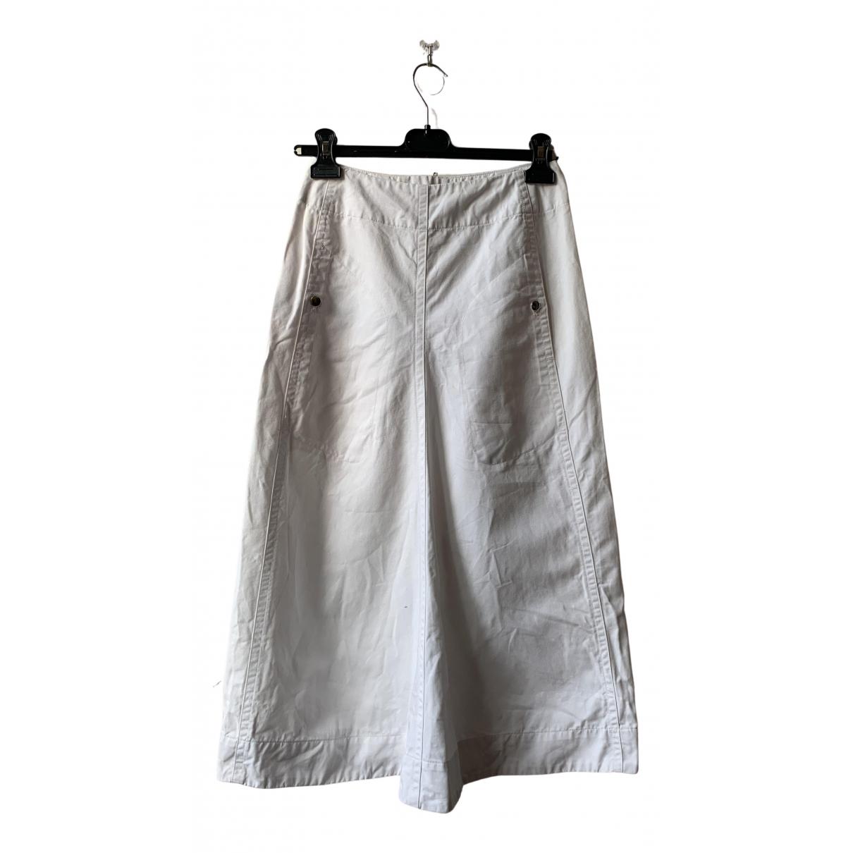 Lemaire - Jupe   pour femme en coton - blanc