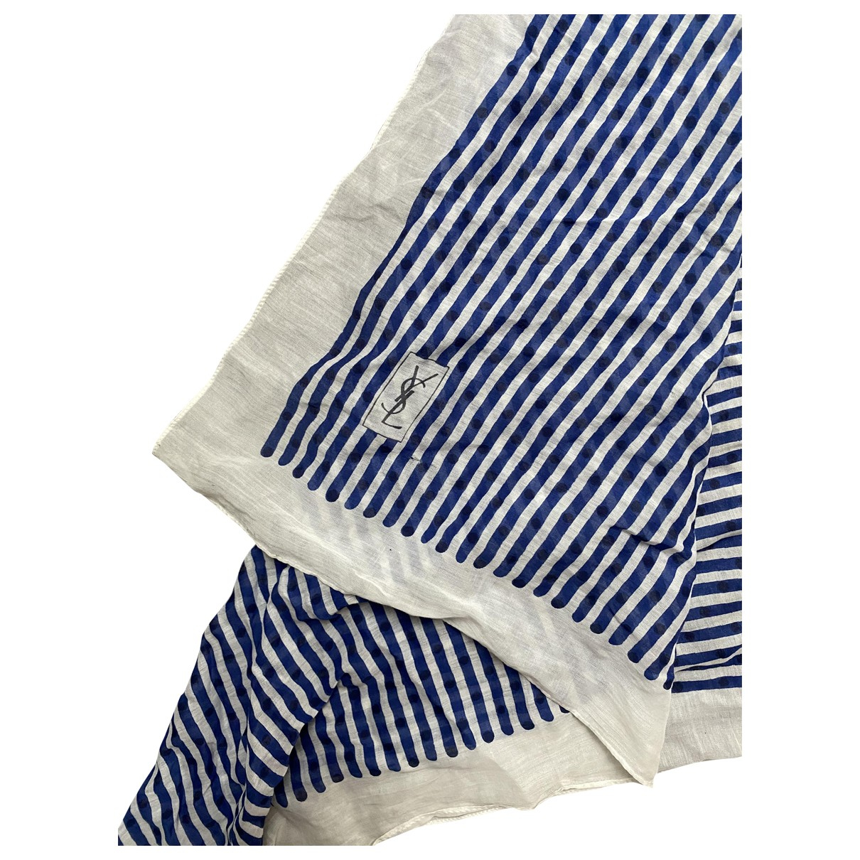 Yves Saint Laurent \N Blue Cotton Silk handkerchief for Women \N