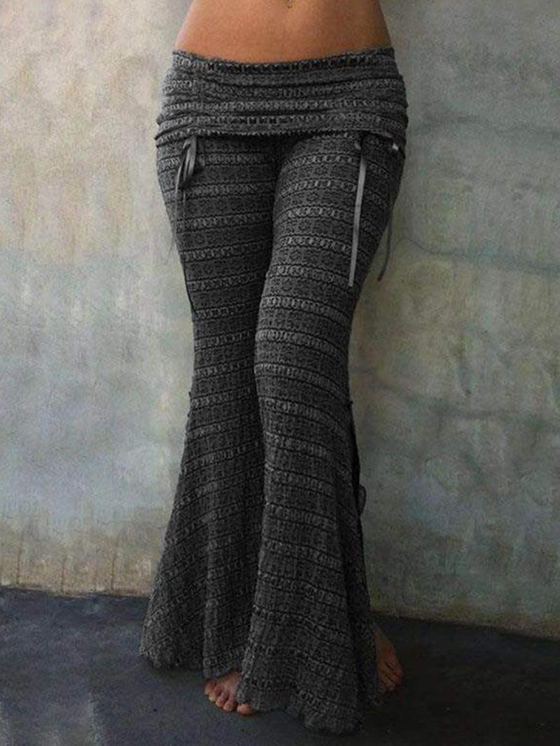 Ericdress Slim Color Block Bellbottoms Casual Pants