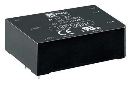 RS PRO , 25W Embedded Switch Mode Power Supply SMPS, 48V dc, Encapsulated