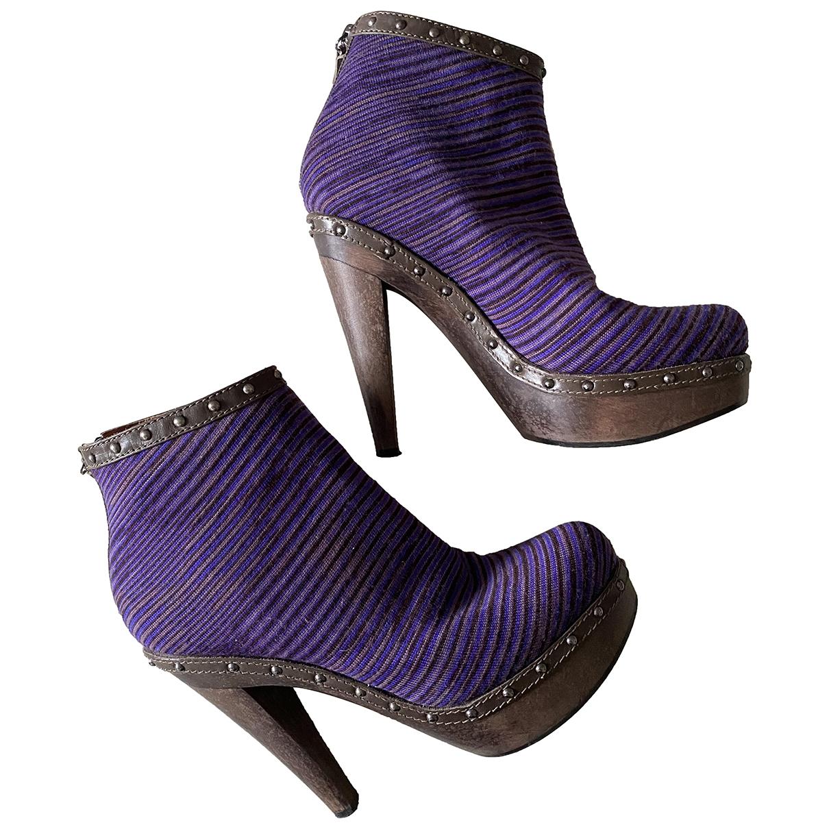 Missoni - Boots   pour femme en cuir - violet