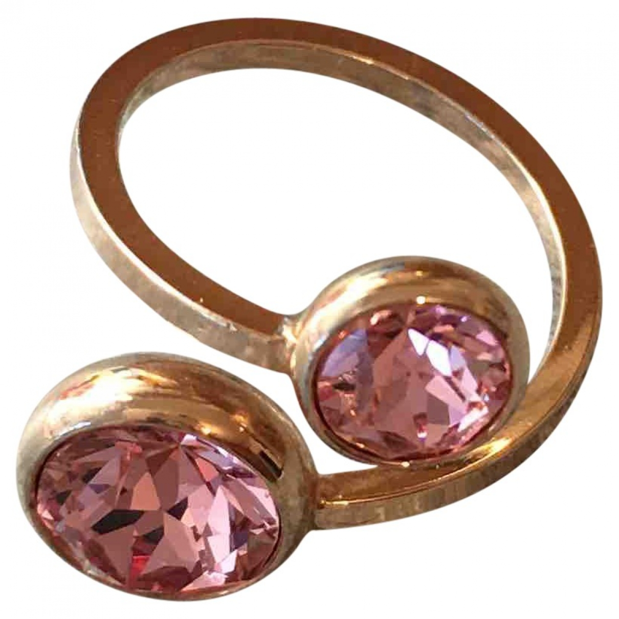 Non Signe / Unsigned \N Ring in  Rosa Kristall