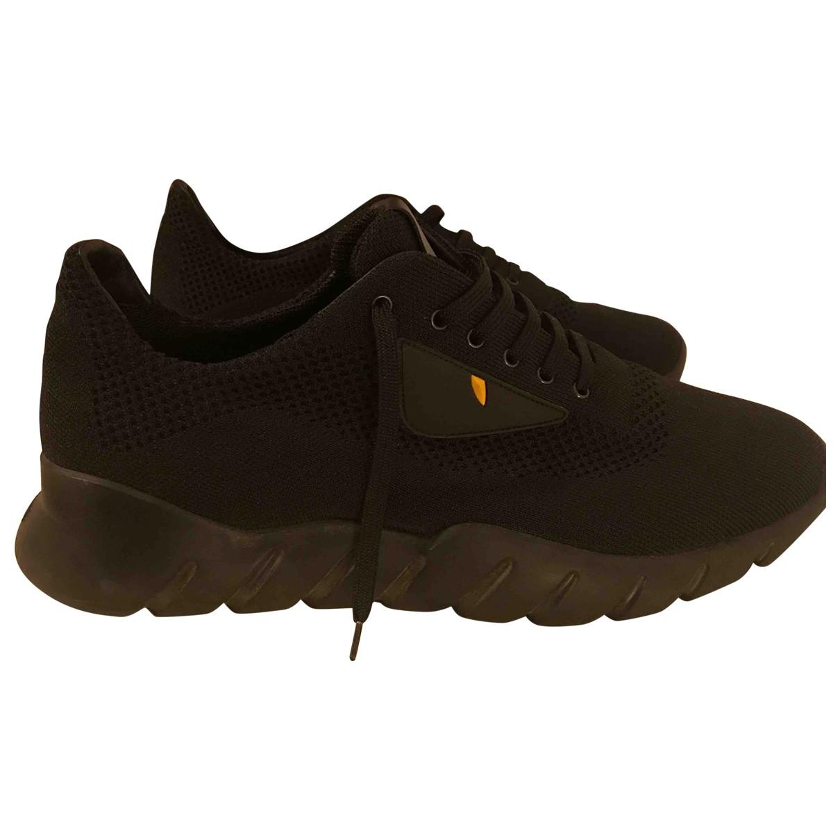 Fendi \N Black Cloth Trainers for Men 9 UK