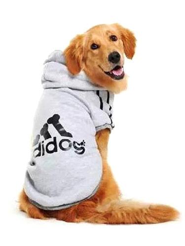 Milanoo Dog Clothes Sweatshirt Light Grey Hooded Printed Dog Clothing Halloween