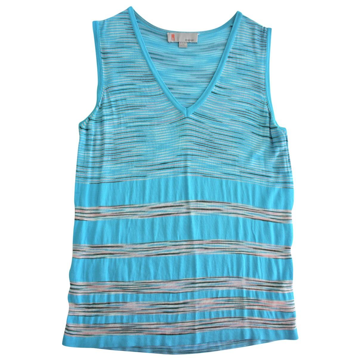 Missoni - Top   pour femme - bleu