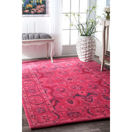 nuLoom Hand Tufted Kimberly Overdyed Rug, One Size , Pink