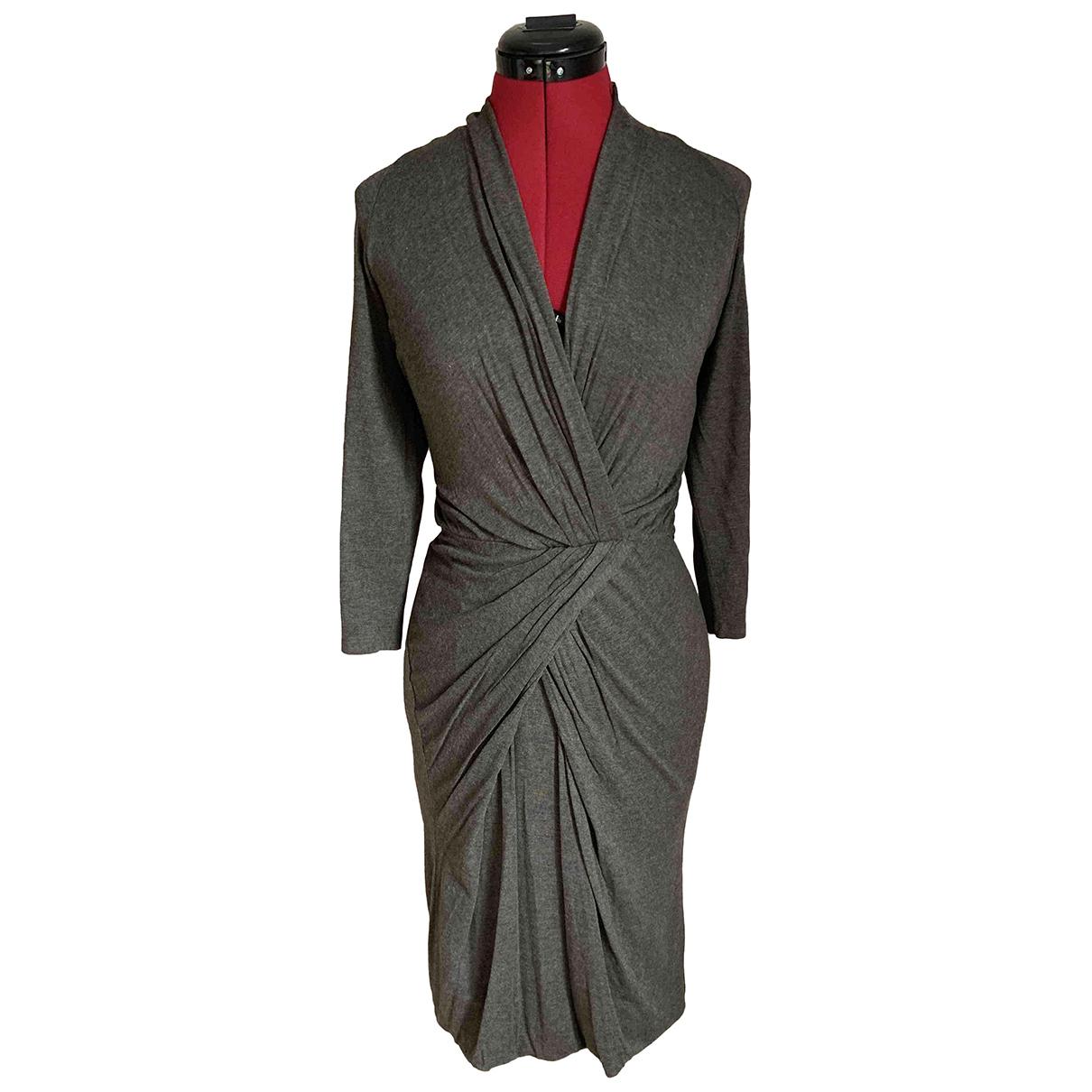 Max Mara Max Mara Atelier Kleid in  Khaki Wolle