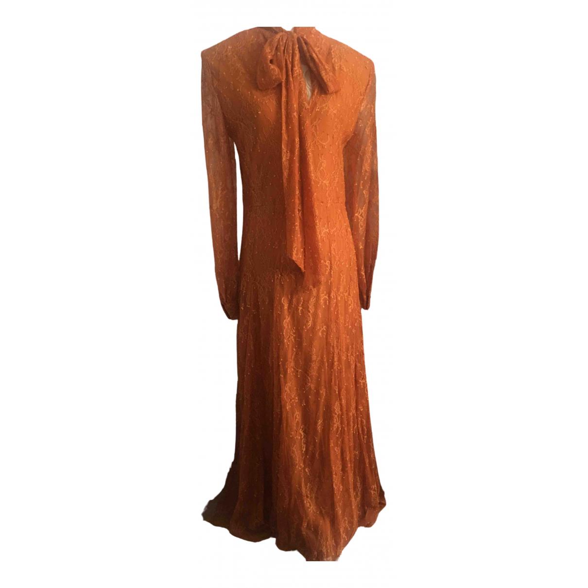 Vestido midi de Encaje Zara