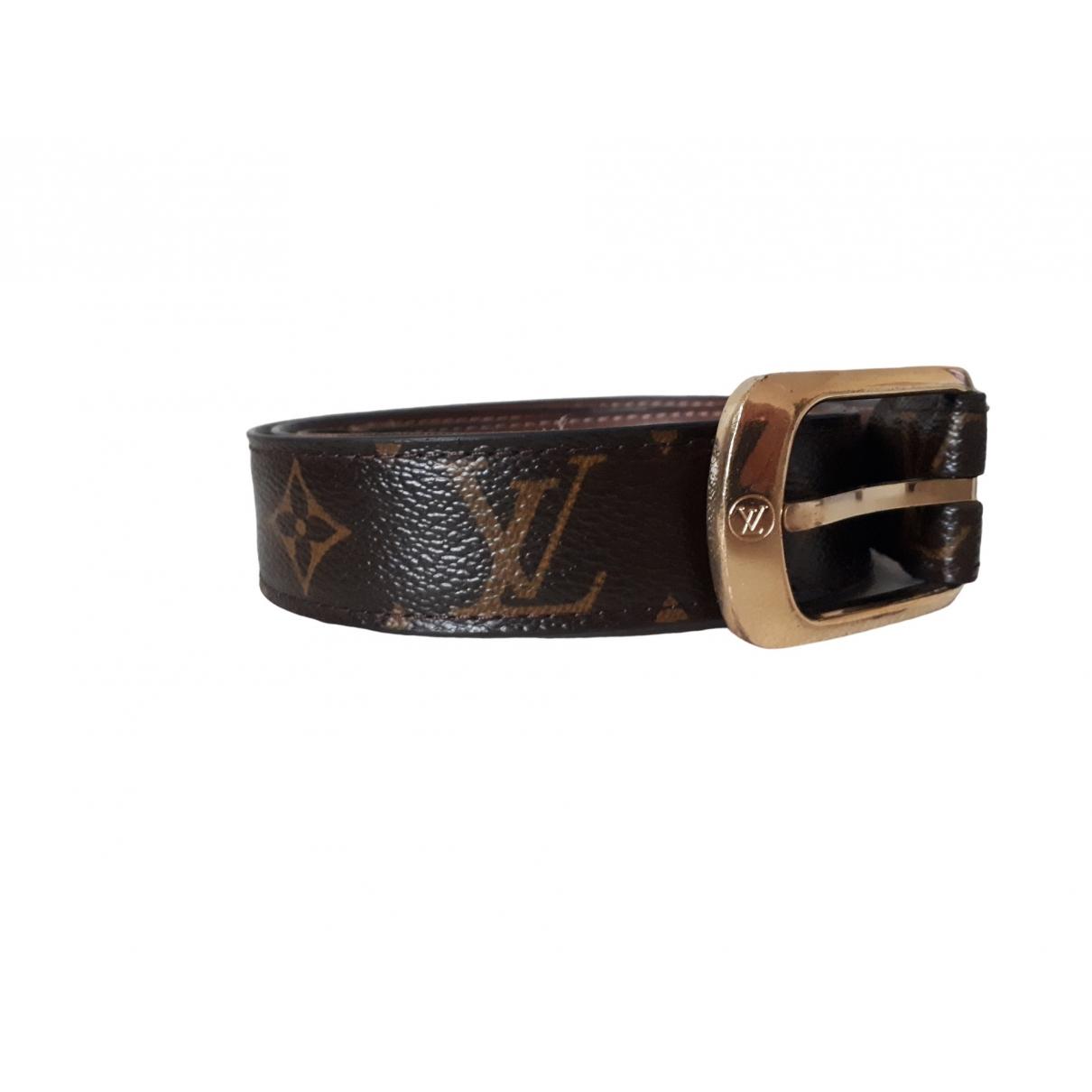 Louis Vuitton \N Brown Cloth belt for Women 90 cm