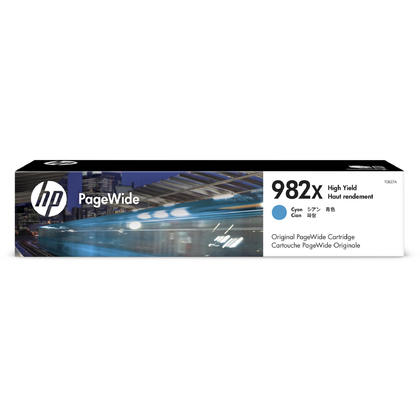 HP 982X T0B27A Original Cyan PageWide Ink Cartridge High Yield