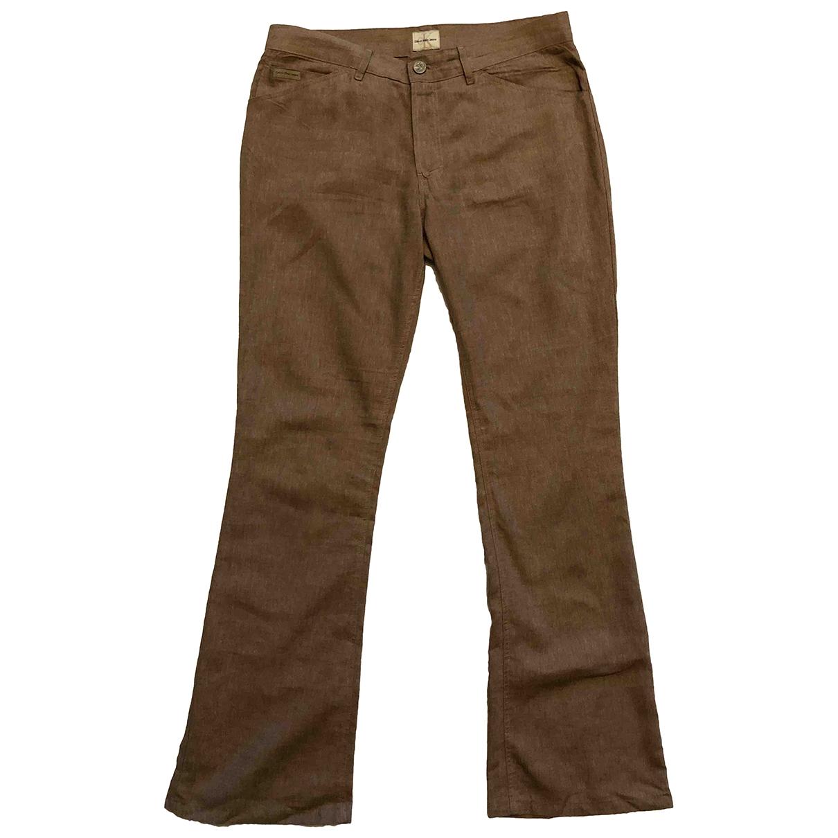 Pantalon de Lino Calvin Klein