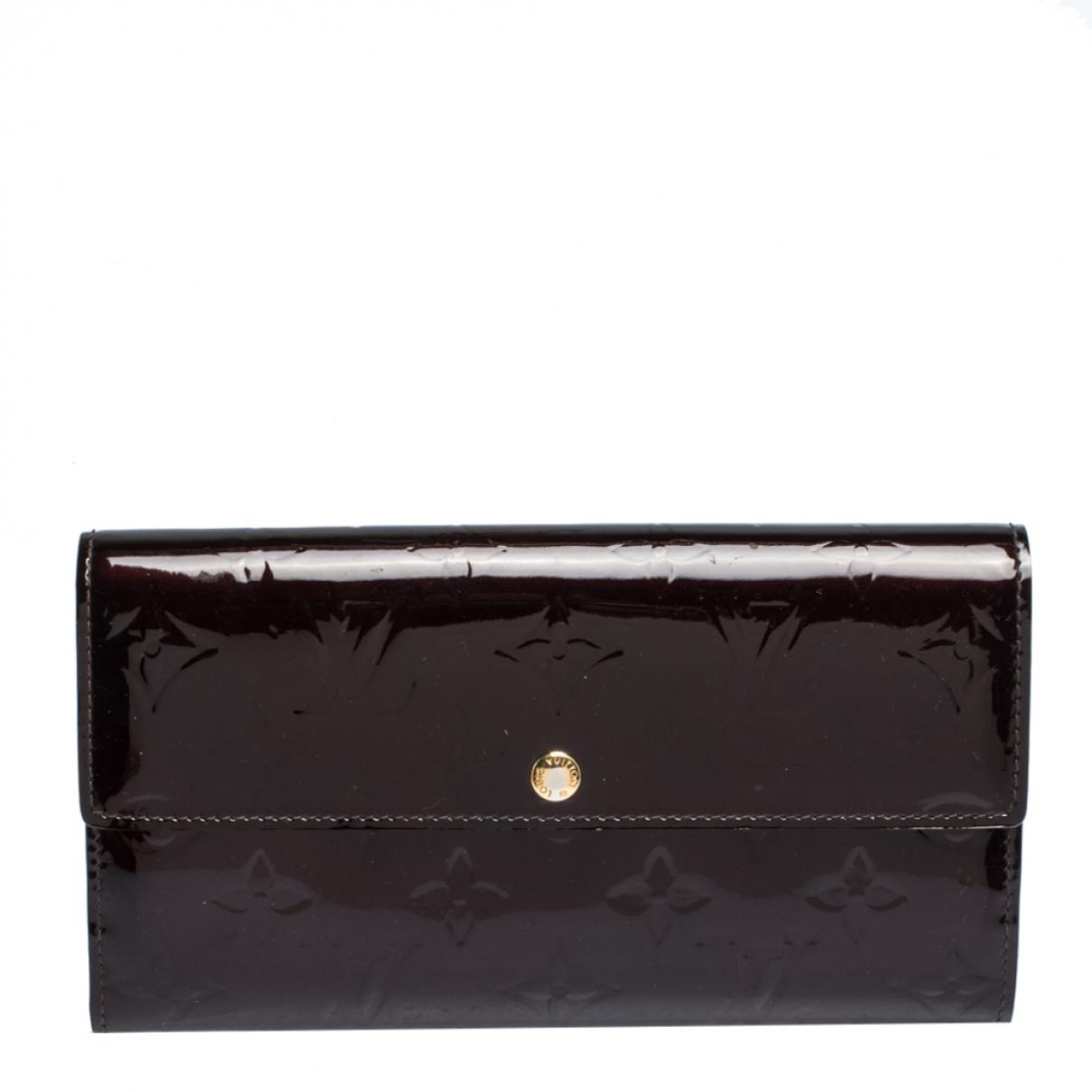 Louis Vuitton Sarah Portemonnaie in Lackleder