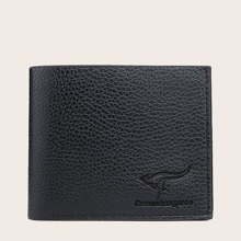 Men Pebble Embossed Fold Over Purse
