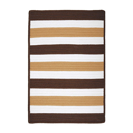 Portico Braided Indoor/Outdoor Rectangular Rugs, One Size , Brown