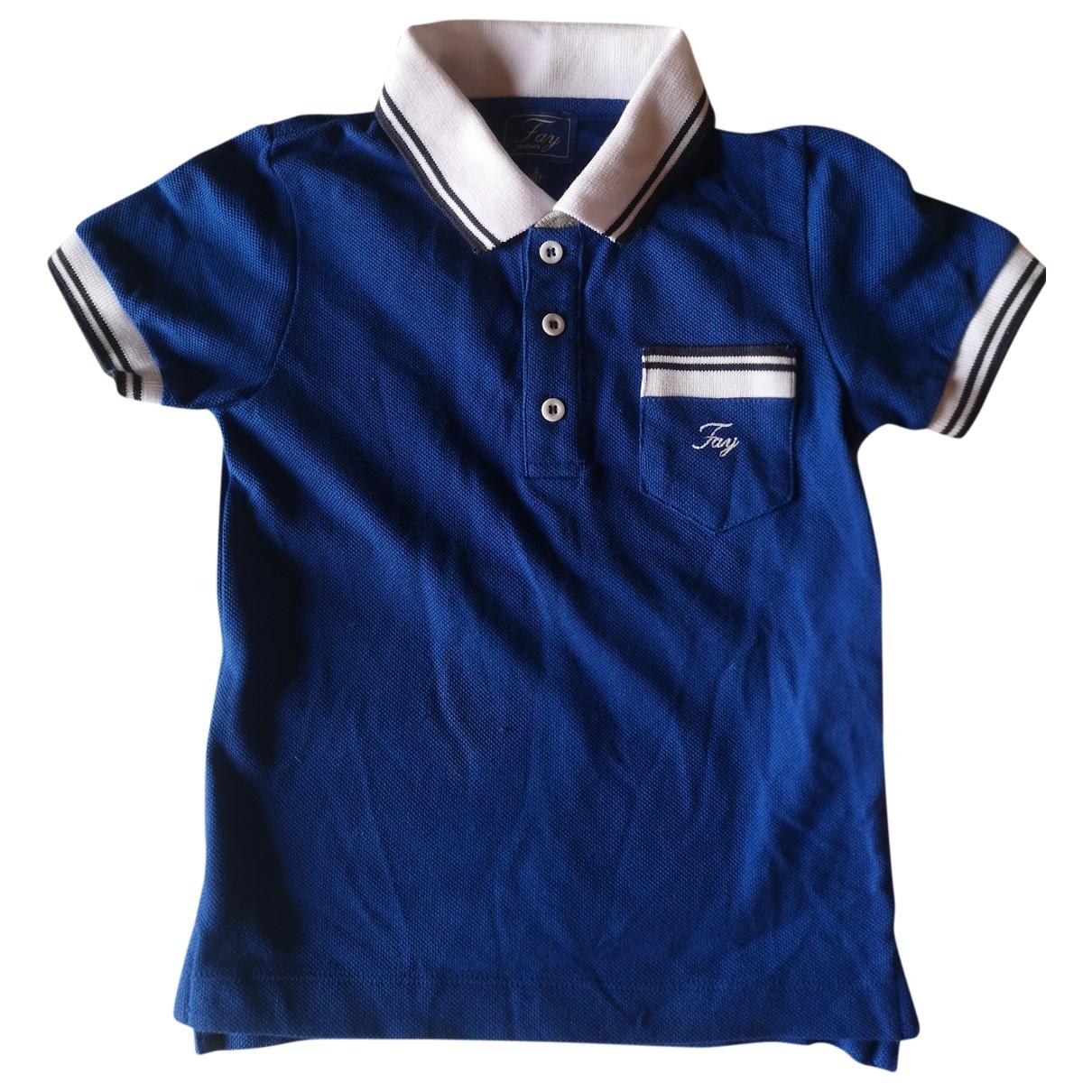Fay - Top   pour enfant en coton - bleu