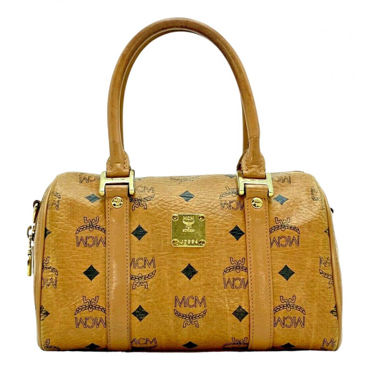 Mcm Boston Handtasche in  Kamel Leder