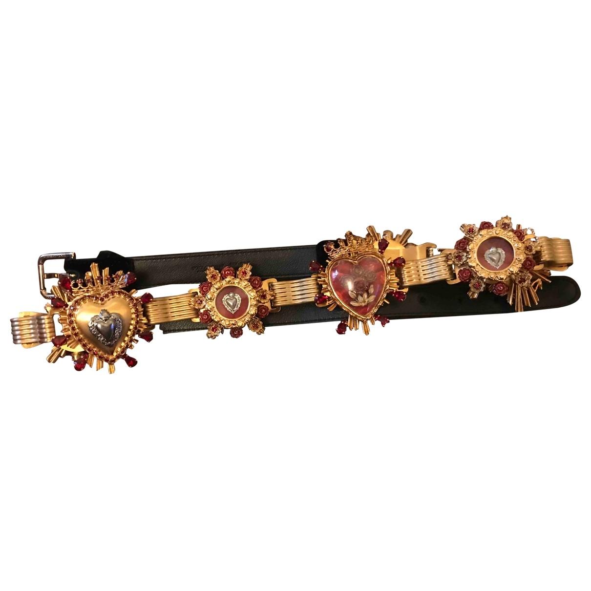 Dolce & Gabbana - Ceinture   pour femme en metal - dore