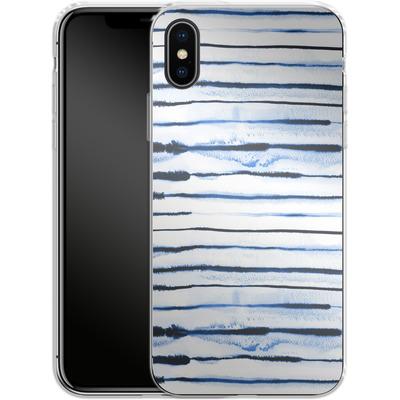 Apple iPhone X Silikon Handyhuelle - Electric Lines White von Ninola Design