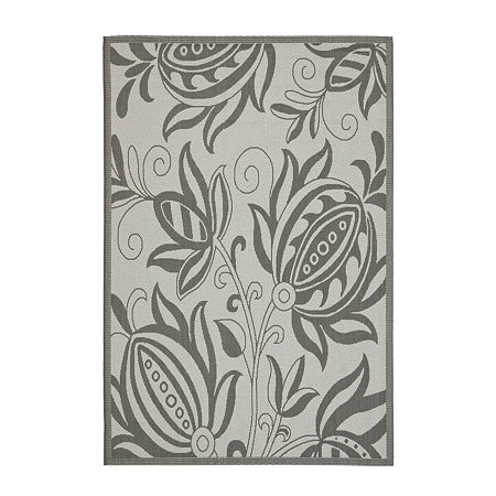 Safavieh Courtyard Collection Tarek Floral Indoor/Outdoor Area Rug, One Size , Multiple Colors
