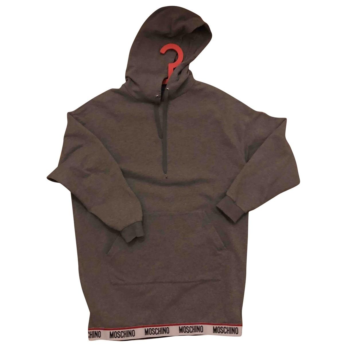 Moschino - Robe   pour femme en coton - gris