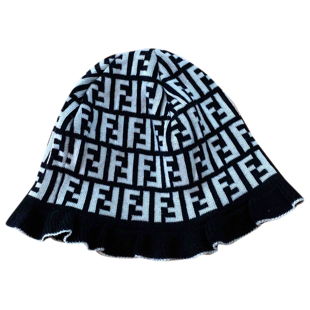 Fendi - Chapeau   pour femme en laine - noir