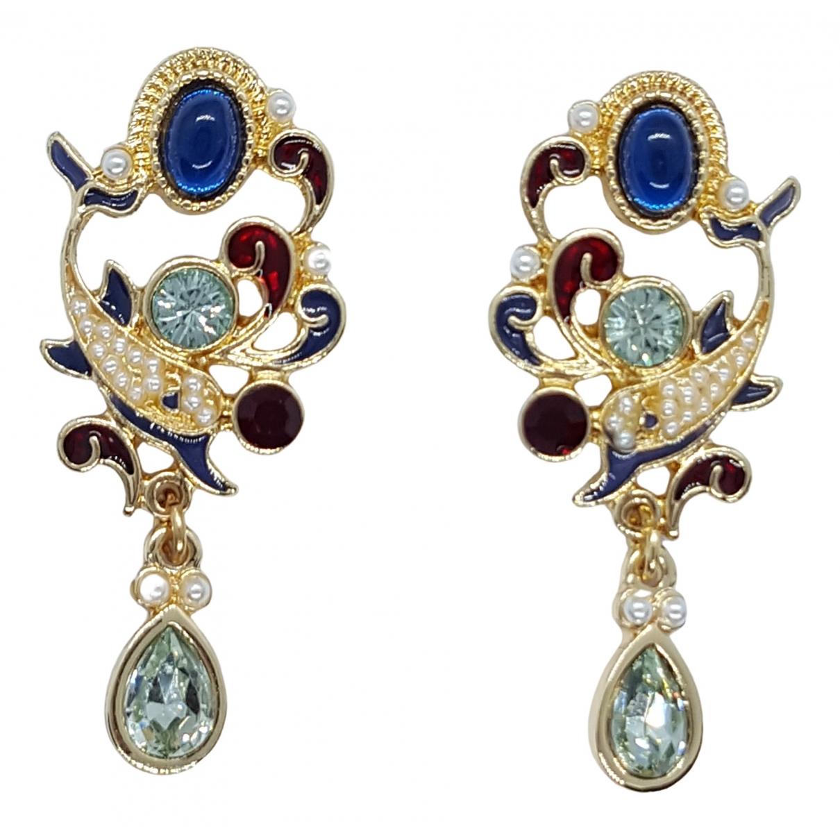 - Boucles d'oreilles Art Deco pour femme en metal - dore