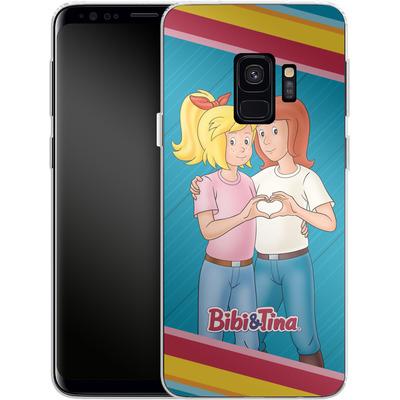 Samsung Galaxy S9 Silikon Handyhuelle - Bibi und Tina Regenbogen von Bibi & Tina