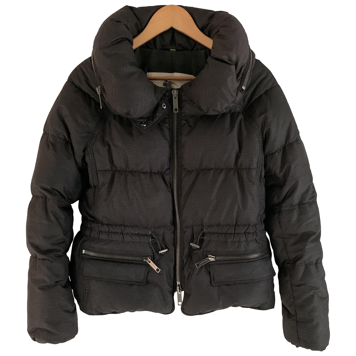 Burberry \N Anthracite Leather jacket for Women 38 FR