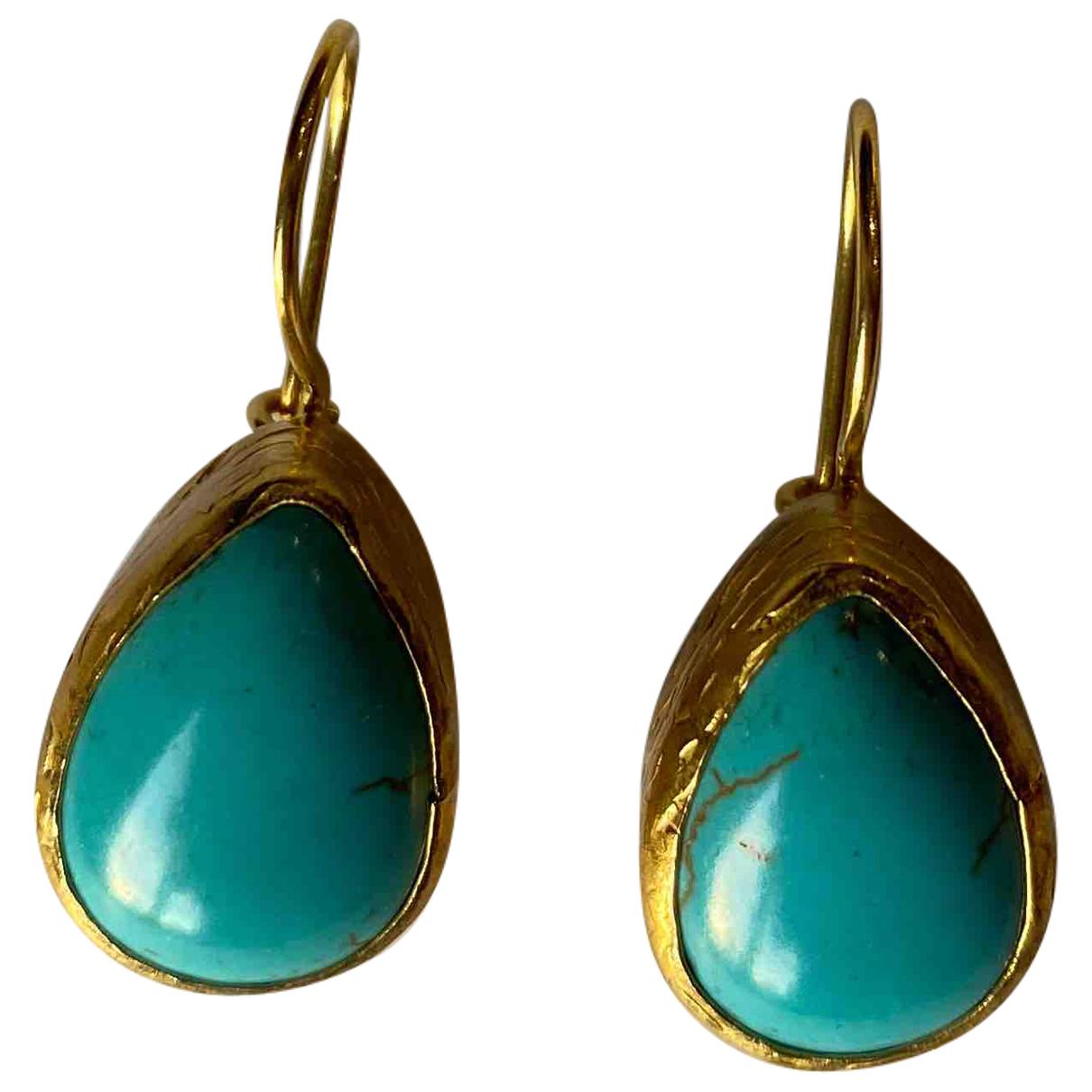 Asos - Boucles doreilles   pour femme en metal - turquoise