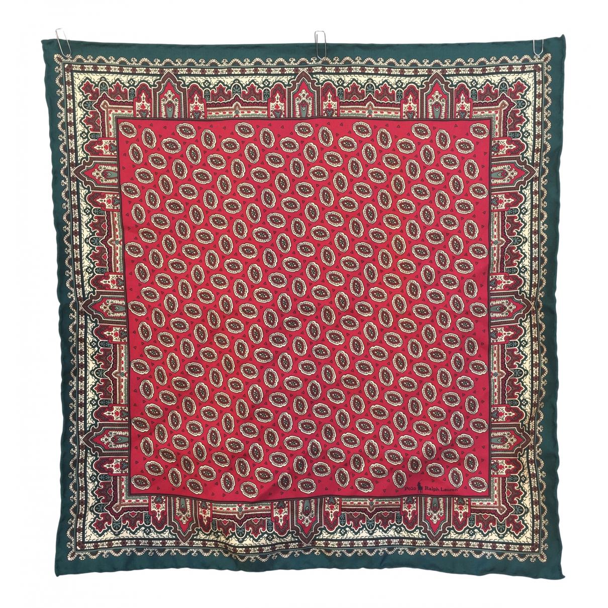 Polo Ralph Lauren - Foulard   pour femme en soie - multicolore