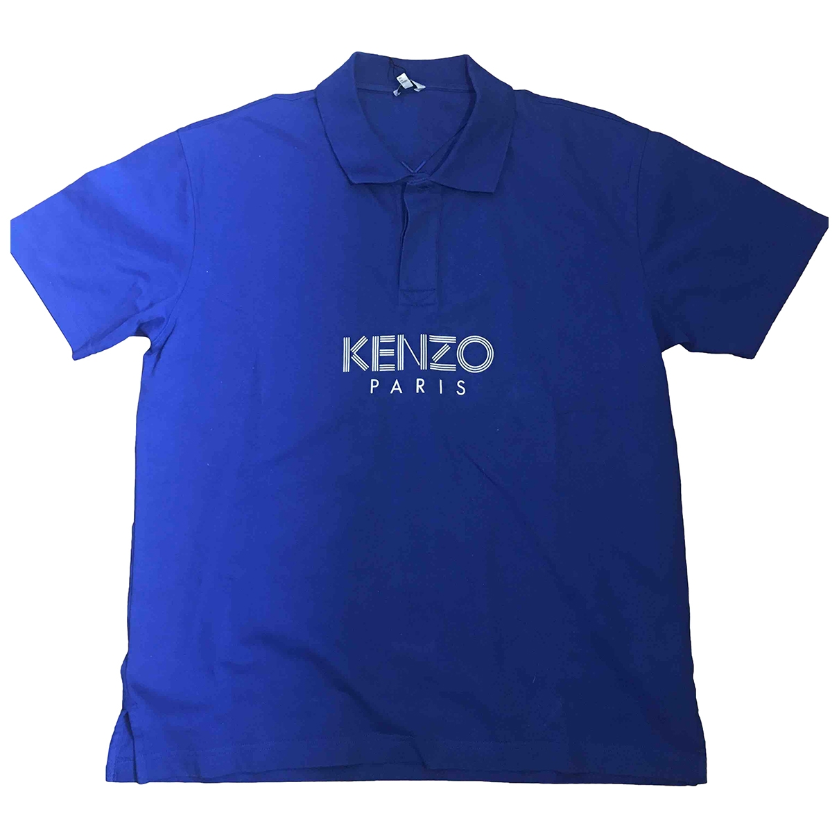 Kenzo - Polos   pour homme en coton - bleu
