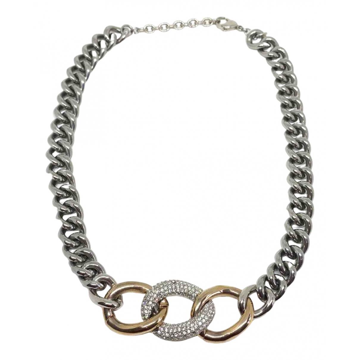 - Collier Chaines pour femme en metal - argente