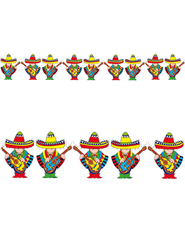 Girlande Mexikaner 3m Farbe: multicolor bzw. bunt