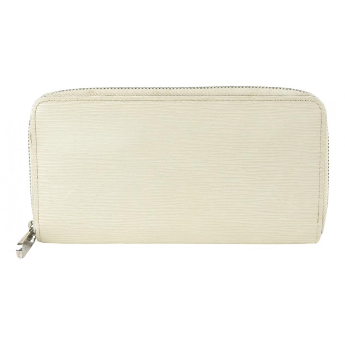 Louis Vuitton - Portefeuille Zippy pour femme en cuir - ecru