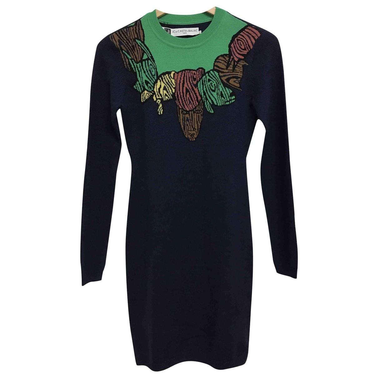 Jc De Castelbajac \N Navy Wool dress for Women 34 FR