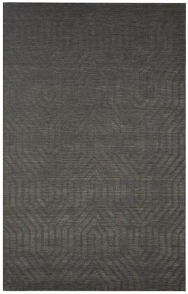 TECTC8574330008RD Technique TC8574-8' x 8' Hand-Loomed 100% Wool Rug in Gray   Round