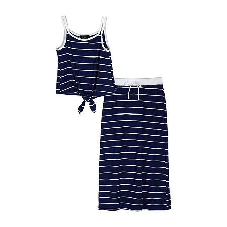 by&by Big Girls 2-pc. Skirt Set, X-large , Blue